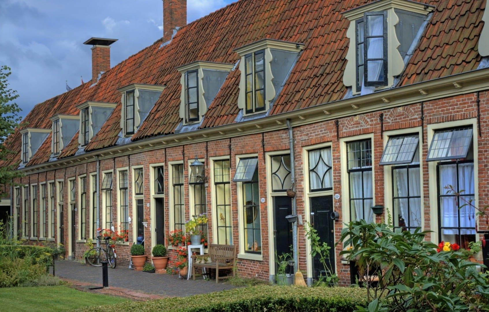 Casas en el Pepergasthuis. Groninga Países Bajos
