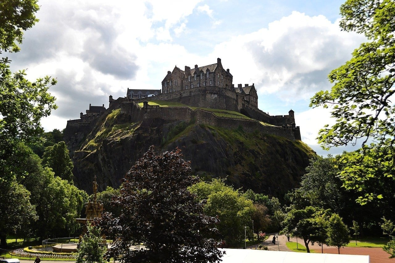 Castillo De Edimburgo Edimburgo Castillo Reino Unido