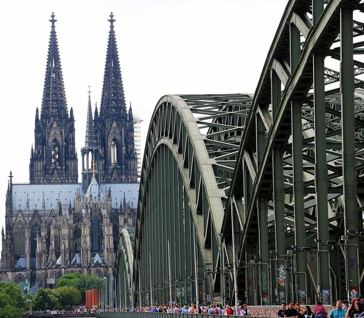 Catedral De Colonia Puente De Hohenzollern Bloqueos De Amor Alemania