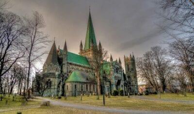 Catedral De Nidaros Trondheim Noruega Noruega