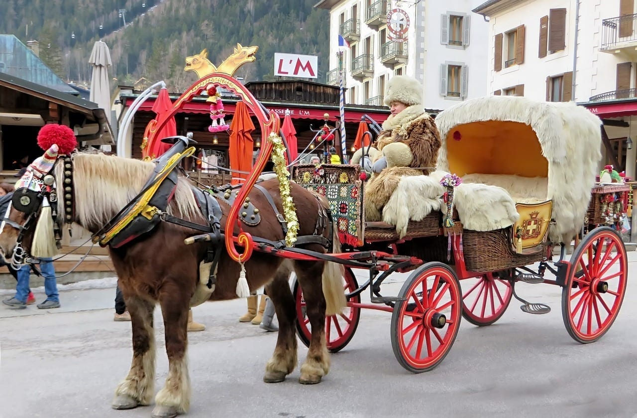 Chamonix Carro Enganche Francia