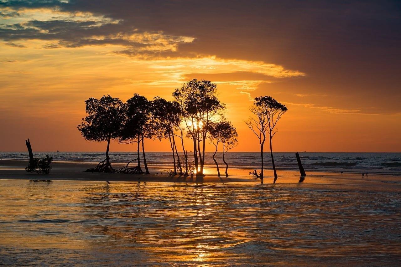 Cielo Puesta De Sol Darwin Australia