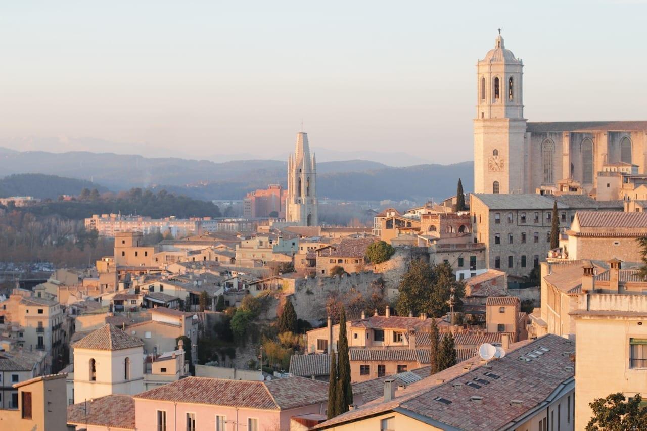 Ciudad Atardecer Girona España