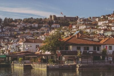 Ciudad De Ohrid Arquitectura De Viaje Macedonia