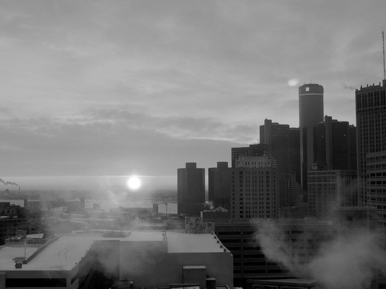 Ciudad Detroit La Construcción De Estados Unidos