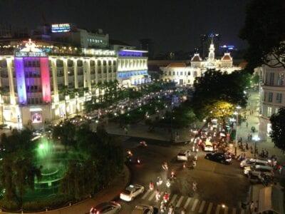 Ciudad Ho Chi Minh de noche Ho Chi Minh (Saigón) Vietnam