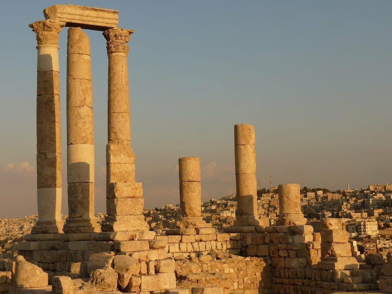 Colina De La Ciudadela Amman Jordania Jordania