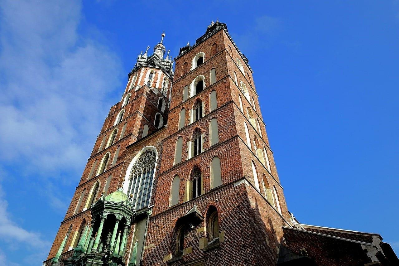 Cracovia Iglesia De Santa María Polonia Polonia