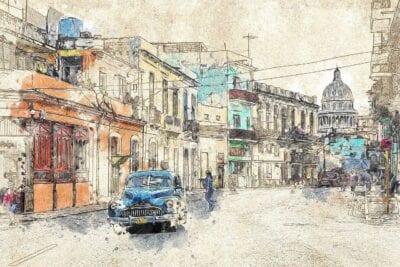 Cuba Coche Antiguo La Habana Cuba