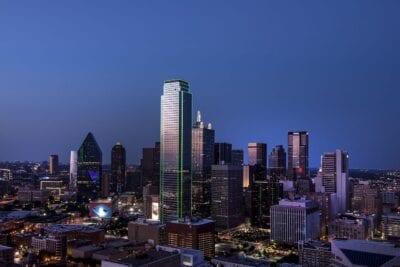 Dallas Horizonte Anochecer Estados Unidos