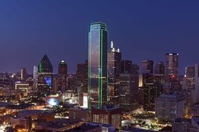 Dallas Horizonte Paisaje Urbano Estados Unidos