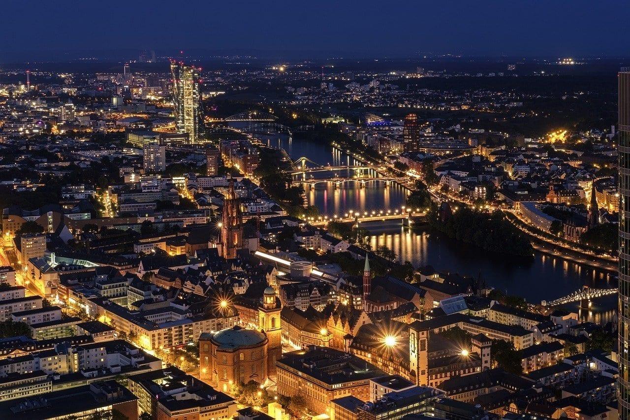 De La Ciudad Frankfurt Paisaje Urbano Alemania