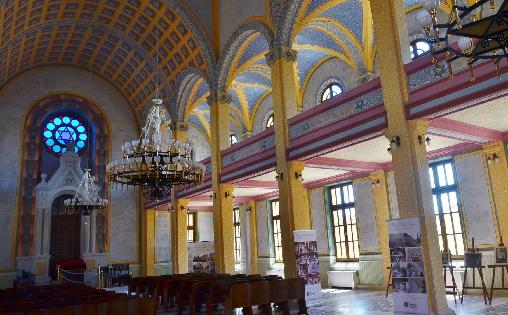 Dentro de la Gran Sinagoga Edirne Turquía