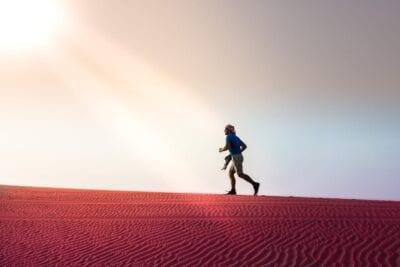 Desierto Ejecutar Abu Dhabi Emiratos Árabes Unidos