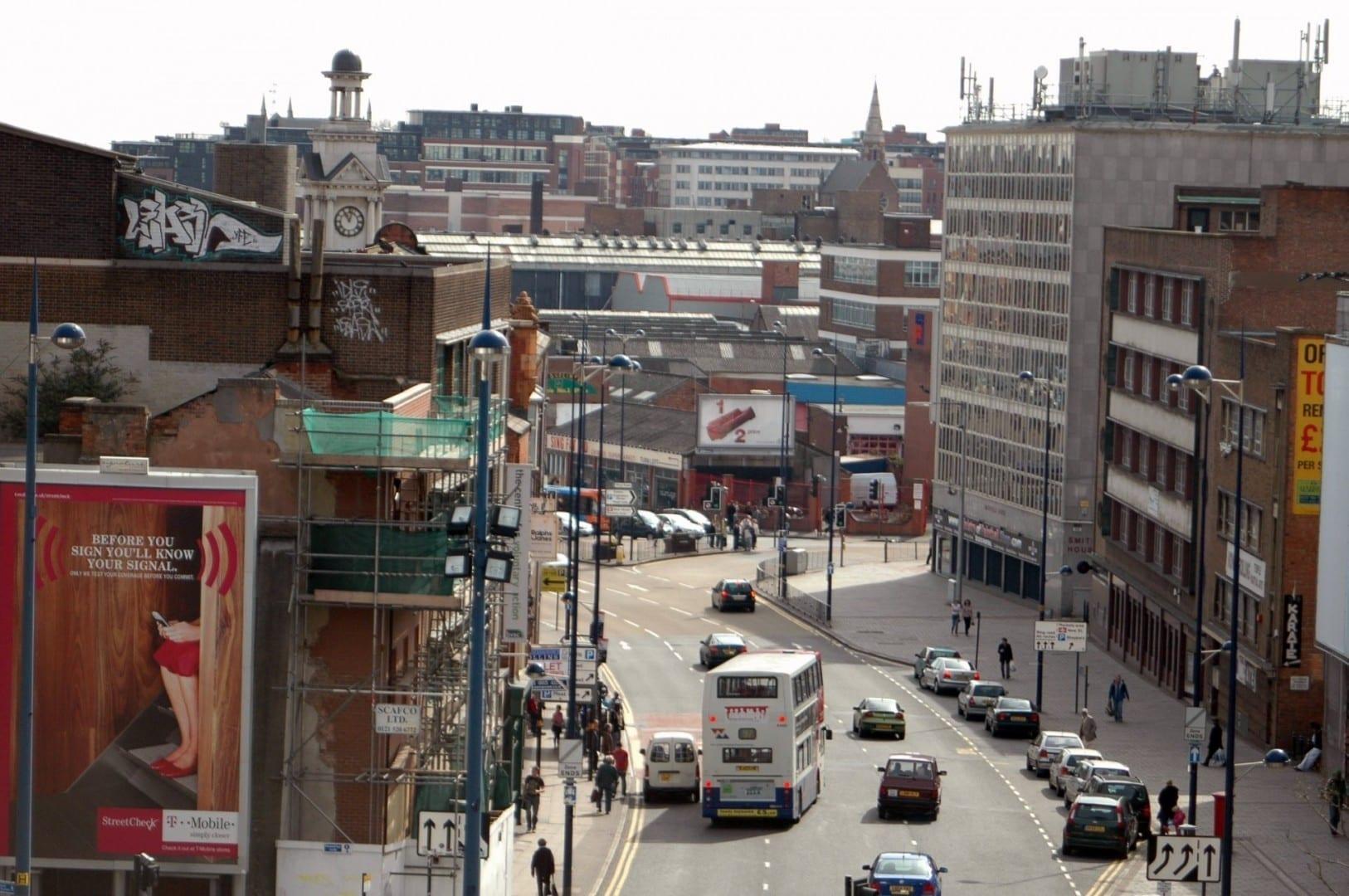 Digbeth High Street Birmingham Reino Unido