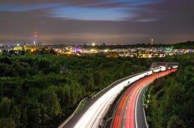 Dortmund Noche La Luz Alemania