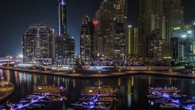 Dubai Marina árabe Emiratos Árabes Unidos