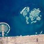 Dubai visto desde el espacio. Bur Dubai Emiratos Árabes Unidos