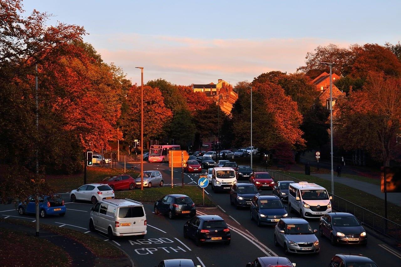 Durham Inglaterra Rush Hour Reino Unido