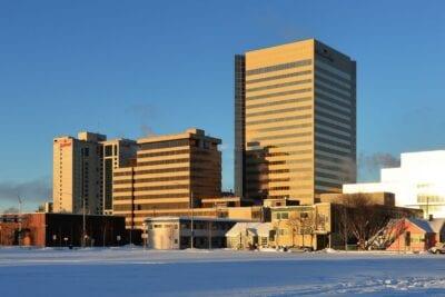 Edificio Conoco-Phillips. El edificio más alto de Alaska Anchorage Estados Unidos