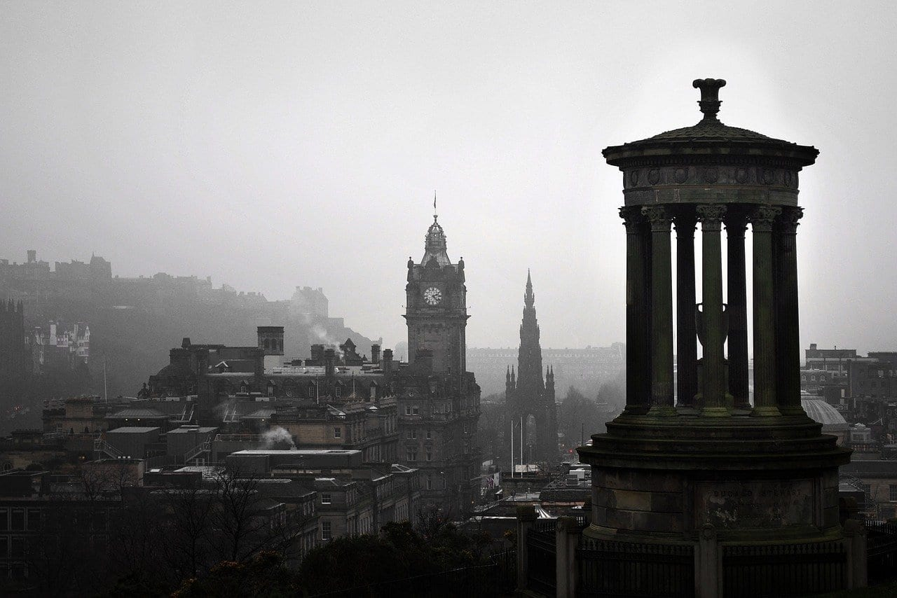 Edimburgo Carlton Colina Paisaje Reino Unido