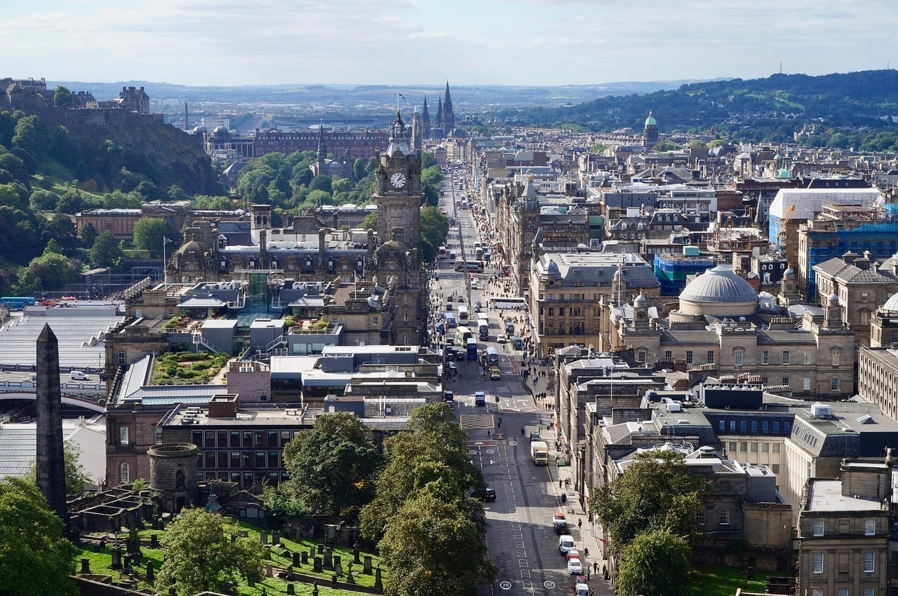 Edimburgo Escocia Ciudad Reino Unido