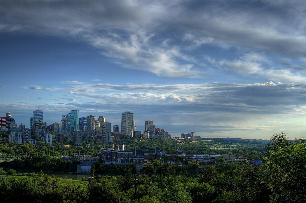 Edmonton Canadá Cielo Canadá