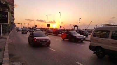 Egipto Alejandría Puesta De Sol Egipto
