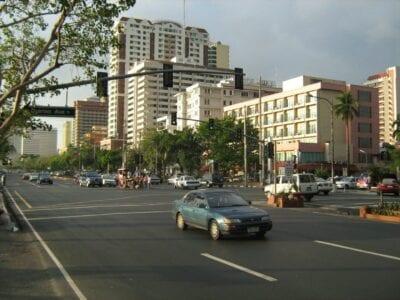 El Boulevard Roxas Intramuros (Manila) Filipinas