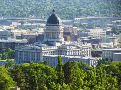 El Capitolio del Estado de Utah con vistas a la ciudad Salt Lake City Estados Unidos