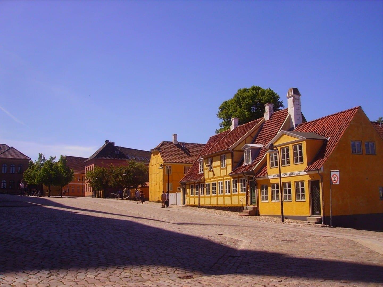 El casco antiguo de Roskilde Roskilde Dinamarca