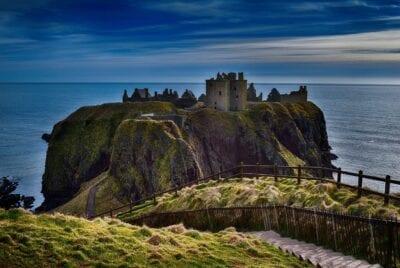 El Castillo De Dunnottar Acantilados Aberdeen Reino Unido