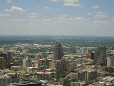 El centro de San Antonio desde la Torre de las Américas San Antonio (Texas) Estados Unidos