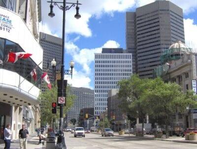 El centro de Winnipeg Winnipeg Canadá
