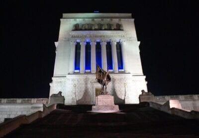 El colosal monumento a la guerra de Indiana Indianapolis Estados Unidos