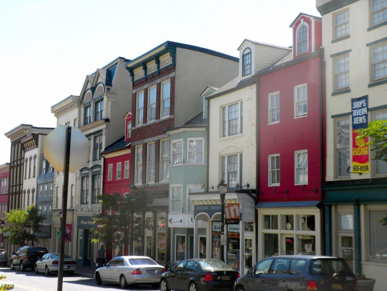 El Distrito Histórico de la calle Lower Market Wilmington DE Estados Unidos