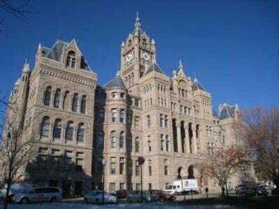 El edificio del condado de la ciudad Salt Lake City Estados Unidos
