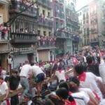 El encierro de los toros Pamplona España