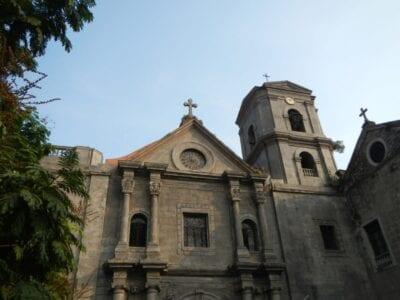 El exterior de la Iglesia de San Agustín Intramuros (Manila) Filipinas