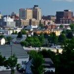 El horizonte de Portland Portland ME Estados Unidos