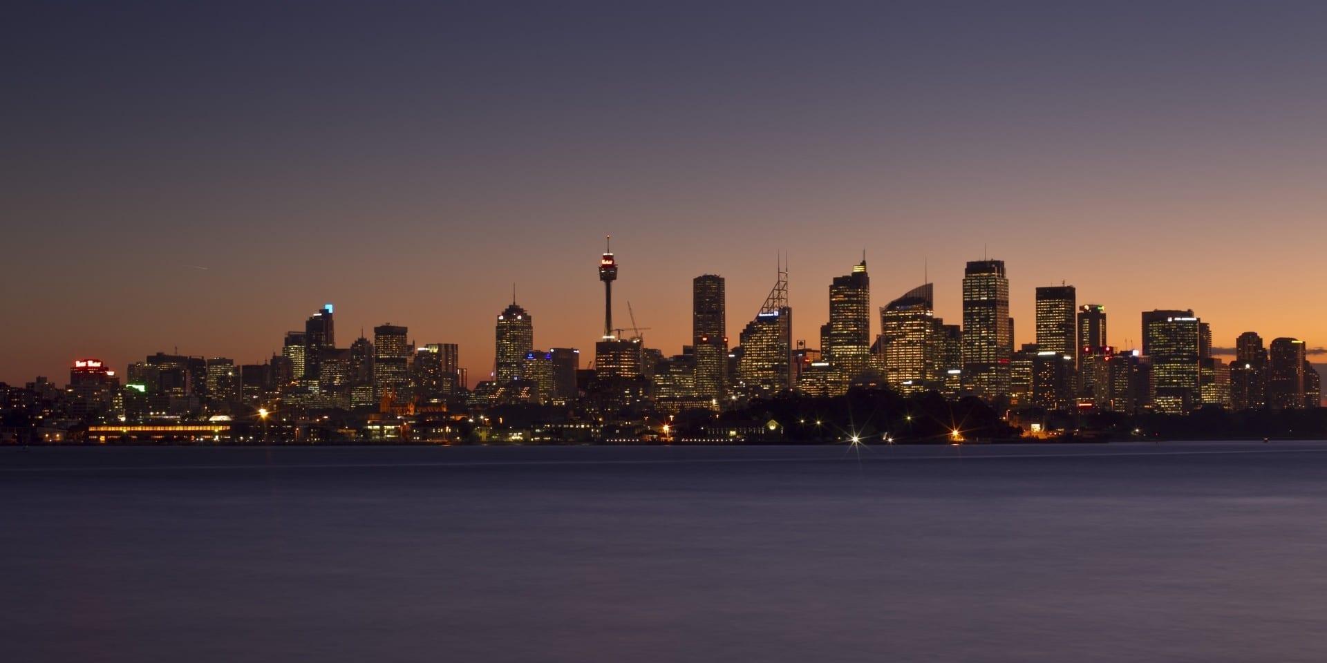 El horizonte del Distrito Central de Negocios de Sydney en 2011. Sídney Australia