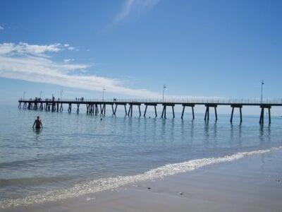 El muelle de Glenelg Beach Adelaida Australia