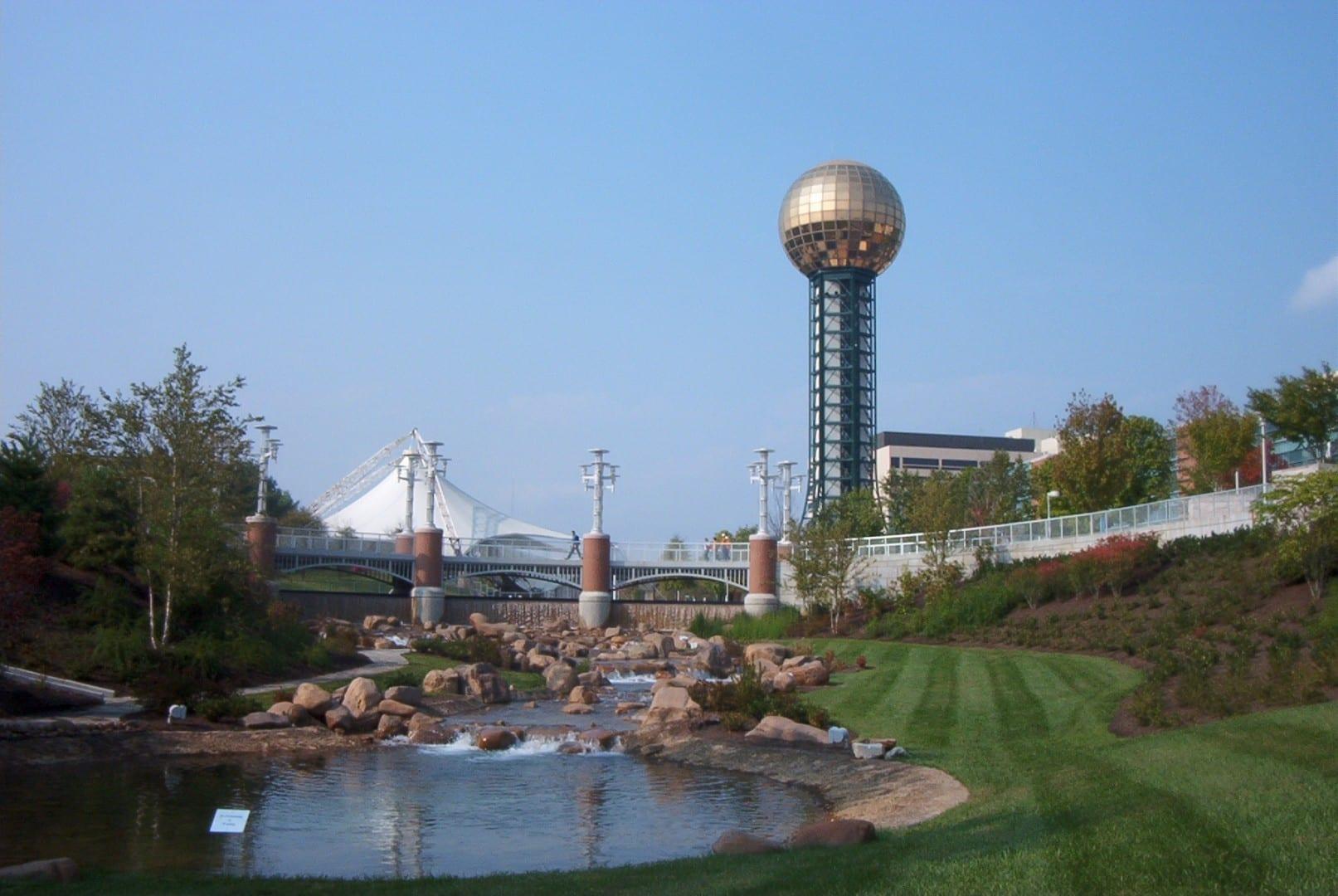 El Parque de la Feria Mundial y la Esfera del Sol Knoxville TN Estados Unidos