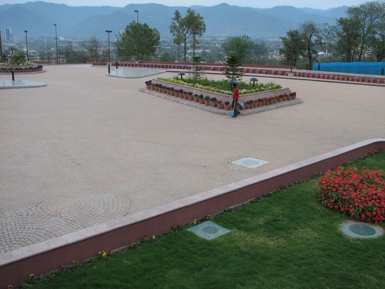 El sitio del Monumento a Pakistán Islamabad Pakistán