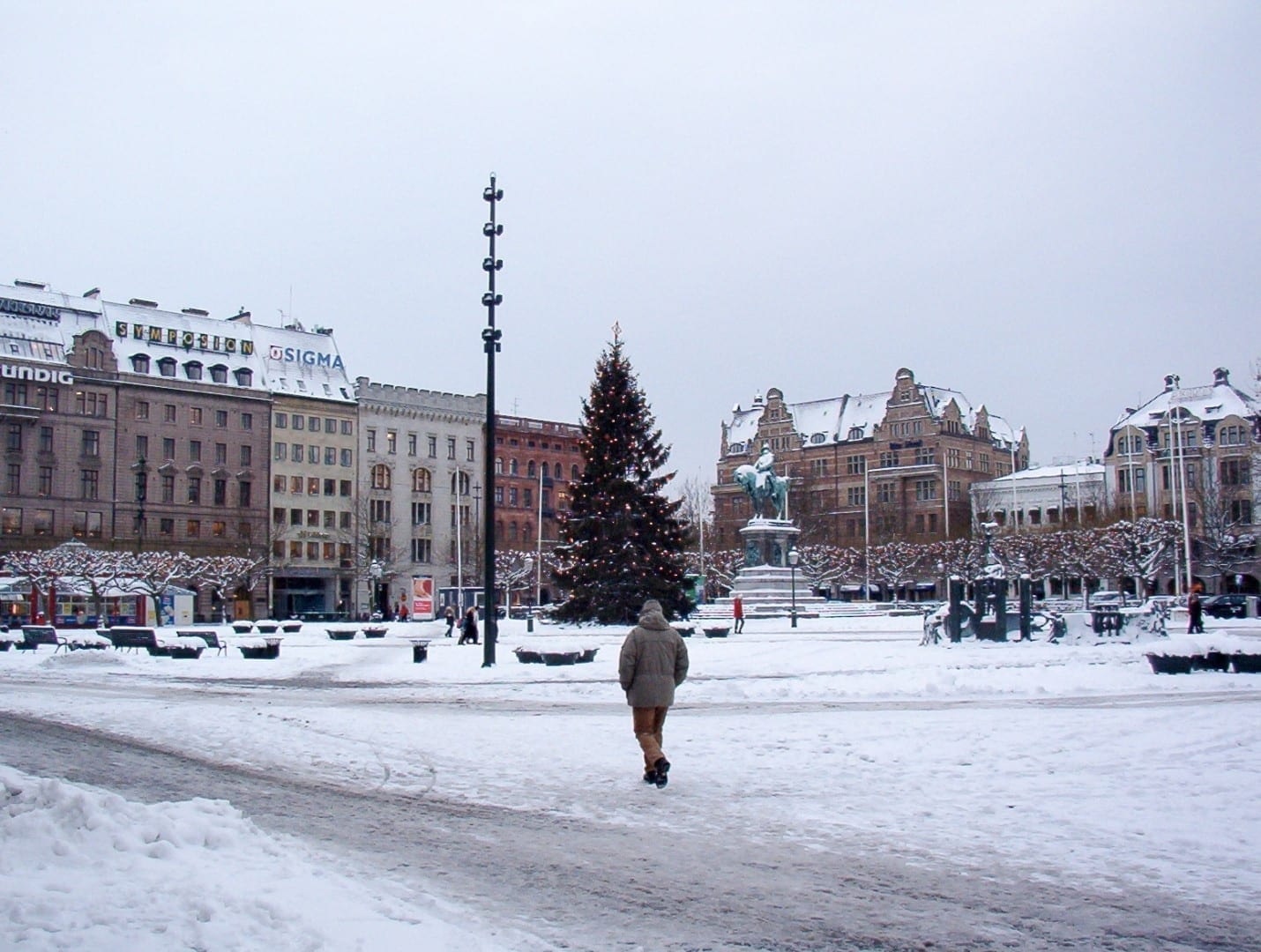 El Stortorget en invierno Malmo Suecia