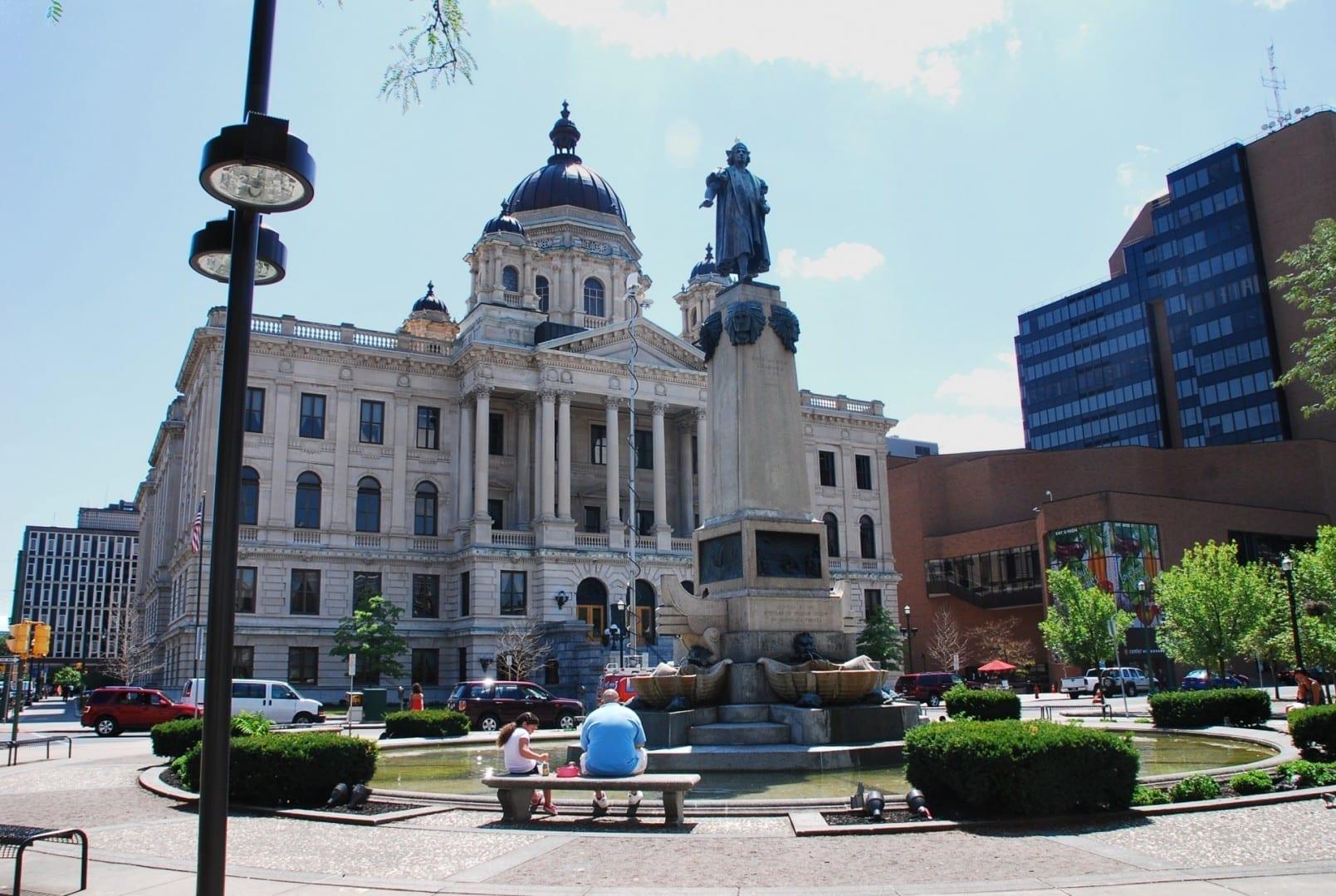 El Tribunal del Condado de Onondaga en Columbus Circle Syracuse NY Estados Unidos