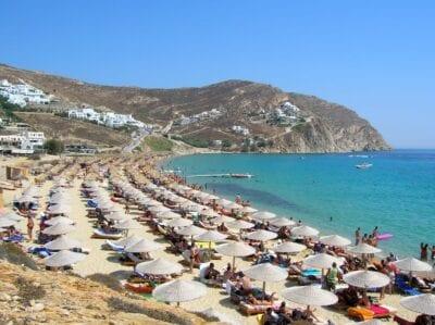 Elia Beach, Mykonos Miconos Grecia