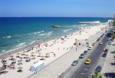 En la playa de Sousse. Susa Túnez