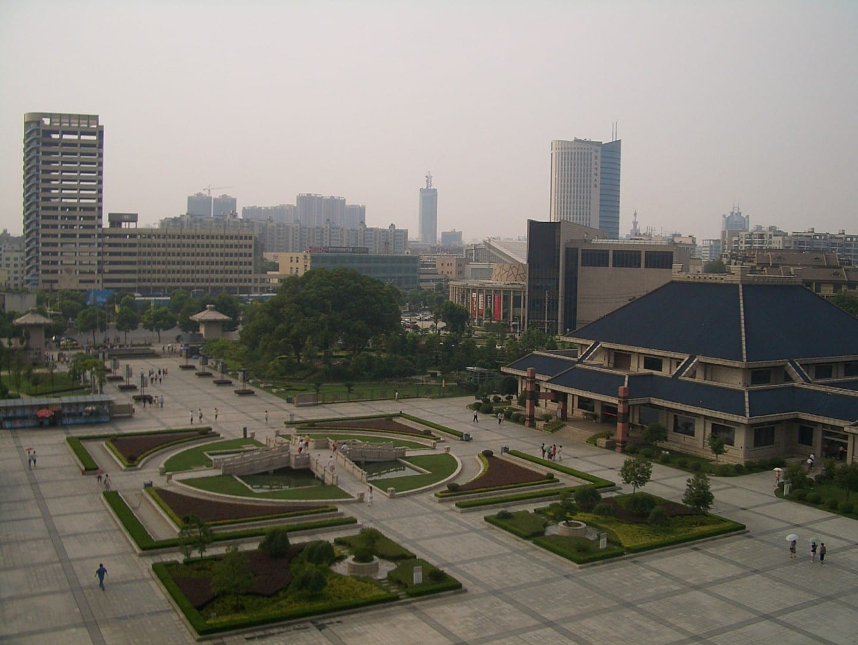 En los terrenos del Museo Provincial de Hubei Wuhan China