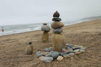 Equilibrio Cairns Escultura De Piedra Australia
